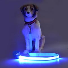 お買い得  犬用首輪/リード/ハーネス-犬 リード 点滅 / 安全用具 ソリッド テリレン グリーン / ブルー / ピンク