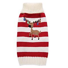 Hond Jassen Truien Hondenkleding Feest Vakantie Casual/Dagelijks Bruiloft Modieus Kerstmis Nieuwjaar Rendier Rood Groen Kostuum Voor