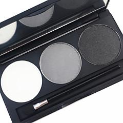 Pro 3 színű, vízhatlan szemöldök por készlet földszíne színes szem homloka töltőanyag sminkpaletta