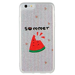 Case for apple iphone 7 plus iphone 7 cover glow in the dark pattern back cover case word / фраза фруктовый блеск блеск жесткий компьютер