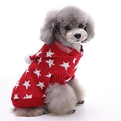 お買い得  犬用ウェア&アクセサリー-犬 セーター / パーカー 犬用ウェア Stars レッド / ブルー コットン コスチューム ペット用 男性用 / 女性用 ハロウィーン / クリスマス