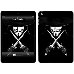 Skin Stickers For iPad Pro 12.9''  Scratch Proof Anti-Fingerprint PVC V for Vendetta Pattern Body Sticker 2.5D Curved edge Pattern iPad Pro 12.9''
