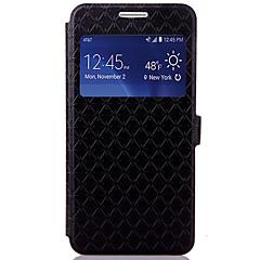 お買い得  Samsung その他の機種用ケース/カバー-ケース 用途 Samsung Galaxy カードホルダー スタンド付き フリップ エンボス加工 フルボディーケース 幾何学模様 ハード PUレザー のために Grand Prime