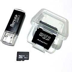Usb kart okuyucu ve sdhc sd adaptör ile 16GB microSDHC tf hafıza kartı