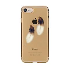 Voor iPhone 7 iPhone 7 Plus Hoesje cover Transparant Patroon Achterkantje hoesje Veren Zacht TPU voor Apple iPhone 7 Plus iPhone 7 iPhone