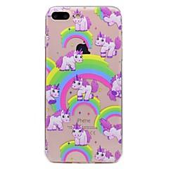Недорогие Кейсы для iPhone 6 Plus-Для яблока iphone 7 7plus phone case tpu материал единорог узор окрашенный корпус телефона 6s плюс 6plus 6s 6 se 5s 5