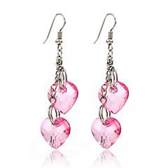 Χαμηλού Κόστους Σκουλαρίκια-Γυναικεία Κρεμαστά Σκουλαρίκια Κοσμήματα Εξατομικευόμενο Κρεμαστό Κρεμαστό κόσμημα Κλασσικό Καρδιά χαριτωμένο στυλ Χρώμιο Καρδιά Κοσμήματα
