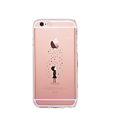 Caso para iphone 7 6 jogando com apple logo tpu soft capa de capa de capa ultra-fina iphone 7 plus 6 6s mais se 5s 5 5c 4s 4