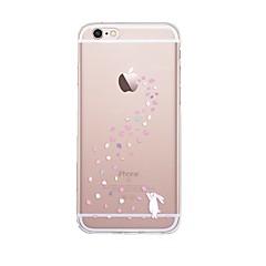 Για iPhone X iPhone 8 Θήκες Καλύμματα Διαφανής Με σχέδια Πίσω Κάλυμμα tok Παίζοντας με το λογότυπο της Apple Ζώο Κινούμενα σχέδια Μαλακή