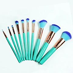 ieftine -10pcsSeturi perie Perie Blush Perie Fard Perie Buze Perie pentru sprâncene Pensule Tuș Perie Corector Perie Pudră Perie Fond Contour