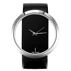 preiswerte Damenuhren-Damen Armbanduhr Armbanduhren für den Alltag Leder Band Freizeit / Modisch / Elegant Schwarz / Weiß / Blau / Ein Jahr / SSUO LR626