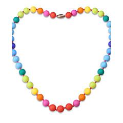 abordables Collares-Mujer Forma Geométrica Personalizado Lujo Clásico Bohemio Elegant Strands Collares Joyas Gel de sílice Strands Collares , Navidad Fiesta