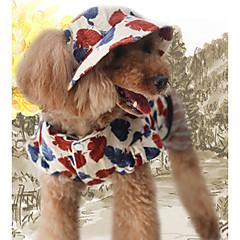 お買い得  犬用ウェア&アクセサリー-犬 ジャンプスーツ 犬用ウェア リーフ柄 コーヒー コットン コスチューム ペット用 男性用 / 女性用 カジュアル/普段着