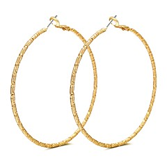 preiswerte Ohrringe-Damen Kreolen - Roségold Luxus, Quaste, Böhmische Gold / Silber Für Party / Zeremonie / Bühne / überdimensional