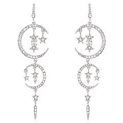 preiswerte Ohrringe-Damen Quaste Tropfen-Ohrringe - vergoldet MOON, Stern Modisch, überdimensional Weiß Für Geburtstag / Valentinstag