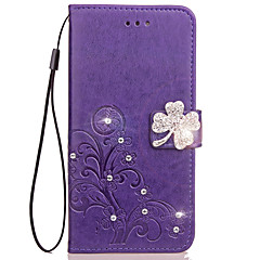 Case For OPPO A59 A57 Case Cover Card Holder Wallet Rhinestone with Stand Flip Embossed Full Body Case Flower Hard PU Leather for OPPO A33 A37 A53