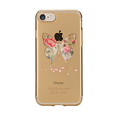 Taske til iphone 7 6 butterfly tpu blødt ultra-tyndt bagcover cover til iPhone 7 plus 6 6s plus se 5s 5 5c 4s 4