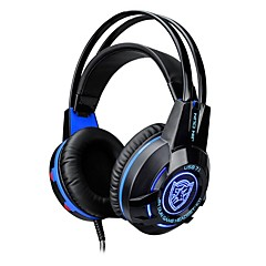 cheap Headsets & Headphones-K1 Headband Wired Headphones Dynamic Plastic Gaming Earphone with Volume Control with Microphone Luminous Headset