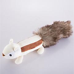 hesapli -Köpek Oyuncağı Evcil Hayvan Oyuncakları Peluş Oyuncaklar Ses Çıkaran Oyuncaklar Tatlı Ses Çıkaran Sincap Yapay Tüy Evcil hayvanlar için