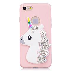 Hoesje voor iphone 7 7plus hoesje hoesje strass regenboog eenhoorn stereo patroon snoep tpu materiaal telefoon hoesje voor iphone 6s 6