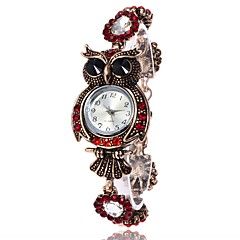 お買い得  大特価腕時計-女性用 ブレスレットウォッチ リストウォッチ クォーツ カジュアルウォッチ 金属 PU バンド ハンズ ぜいたく ヴィンテージ カジュアル ブルー / レッド - レッド ブルー 1年間 電池寿命 / SSUO LR626