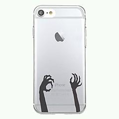 Для iphone 7plus чехол чехол прозрачный узор задняя крышка чехол хэллоуин рука мягкая tpu для iphone 7 6splus 6plus 6s 6 5 5s se
