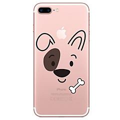 Случай для яблока iphone 7 7 плюс крышка случая мультфильма собака картина окрашенная высокий уровень проникновения tpu материал мягкий