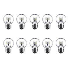 preiswerte LED-Birnen-10 Stück 3 W 250 lm E27 LED Kugelbirnen G45 24 LED-Perlen SMD 2835 Warmes Weiß / Kühles Weiß 220 V