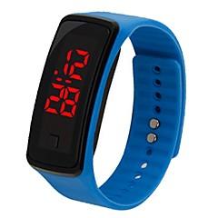 abordables Relojes Inteligentes-yy b4 mujer de los hombres llevó la fecha de reloj de color rojo rectángulo digital banda de goma