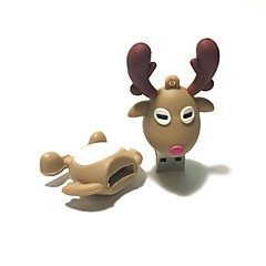 16GB Christmas USB Flash Drive Cartoon Christmas Deer Christmas Gift USB 2.0