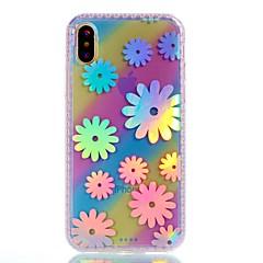 Назначение iPhone X iPhone 8 Чехлы панели С узором Задняя крышка Кейс для Цветы Твердый Акриловое волокно для Apple iPhone X iPhone 8
