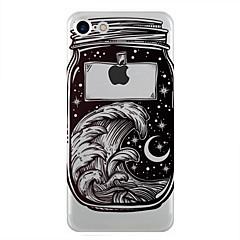 Недорогие Кейсы для iPhone 6 Plus-Кейс для Назначение Apple iPhone 7 Plus iPhone 7 Прозрачный С узором Кейс на заднюю панель Цвет неба Пейзаж Мягкий ТПУ для iPhone 7 Plus