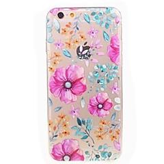 Назначение iPhone 7 iPhone 7 Plus Чехлы панели Ультратонкий Прозрачный С узором Задняя крышка Кейс для Цветы Мягкий Термопластик для Apple
