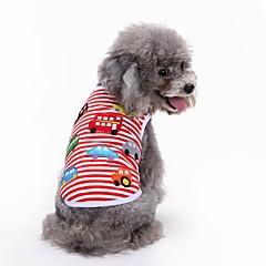 Χαμηλού Κόστους Ρούχα και αξεσουάρ για σκύλους-Σκύλος Φανέλα Veste Ρούχα για σκύλους Πάρτι Γενέθλια Καθημερινά Αθλήματα Μοντέρνα Γάμος Γεωμτερικό Κόκκινο Στολές Για κατοικίδια