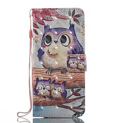 Case Kompatibilitás Samsung Galaxy S8 Plus S8 Pénztárca Kártyatartó Állvánnyal Flip Minta Mágneses Teljes védelem Bagoly Kemény TPU mert