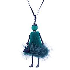 preiswerte Halsketten-Damen Lang Statement Ketten - Spitze Prinzessin Mehrfarbig bezaubernd Weiß, Schwarz, Leicht Grün Modische Halsketten Schmuck Für Normal, Bühne