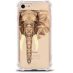 Недорогие Кейсы для iPhone X-Кейс для Назначение Apple iPhone X iPhone 8 Ультратонкий Прозрачный С узором Кейс на заднюю панель Слон Мягкий ТПУ для iPhone X iPhone 8