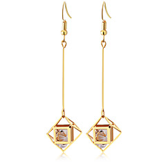 preiswerte Ohrringe-Damen Tropfen-Ohrringe - Zirkon Quaste, Elegant Gold / Silber Für Party Alltag