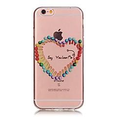 Недорогие Кейсы для iPhone-Назначение iPhone X iPhone 8 Чехлы панели Ультратонкий Прозрачный С узором Задняя крышка Кейс для С сердцем Мягкий Термопластик для Apple