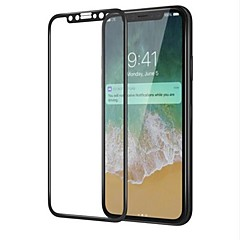 Недорогие Защитные пленки для iPhone X-Защитная плёнка для экрана Apple для iPhone X Закаленное стекло 1 ед. Защитная пленка для экрана 3D закругленные углы Уровень защиты 9H HD