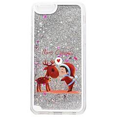Недорогие Кейсы для iPhone 7-Кейс для Назначение Apple iPhone 7 Plus iPhone 7 Движущаяся жидкость С узором Кейс на заднюю панель Рождество Сияние и блеск Твердый ПК