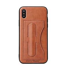 Назначение iPhone X iPhone 8 iPhone 8 Plus Чехлы панели Бумажник для карт со стендом Задняя крышка Кейс для Сплошной цвет Мягкий