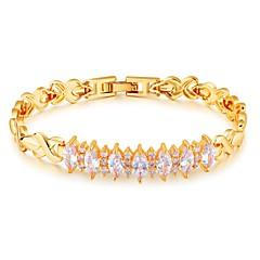 Damskie Bransoletki i łańcuszki na rękę Cyrkonia Klasyczny Modny Godny podziwu luksusowa biżuteria Cyrkon Pozłacane Line Shape Biżuteria