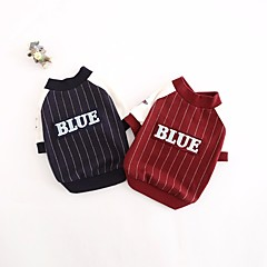お買い得  犬用ウェア&アクセサリー-犬 スウェットシャツ 犬用ウェア 縞柄 レッド / ブルー コットン コスチューム ペット用 カジュアル/普段着