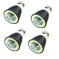 お買い得  LED 電球-4本 7W 550lm LEDスポットライト MR16 1 LEDビーズ COB 装飾用 温白色 クールホワイト 220V