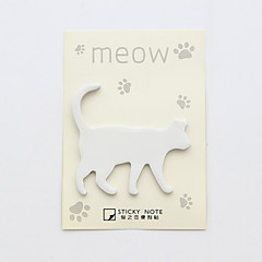 1 PC Cat Design Self-Stick Note Set(Random Color)