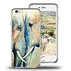 Недорогие Кейсы для iPhone X-Кейс для Назначение Apple iPhone X iPhone 8 Ультратонкий С узором Кейс на заднюю панель Слон Мягкий ТПУ для iPhone X iPhone 8 Pluss