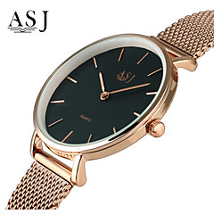 ASJ Men's Women's Fashion Watch Dress Watch Japanese Quartz Rose Gold Plated Stainless Steel Band Minimalist Silver Rose Gold