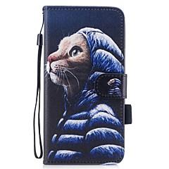 Назначение iPhone 7 iPhone 7 Plus Чехлы панели Кошелек Бумажник для карт со стендом Флип С узором Магнитный Чехол Кейс для Кот Твердый