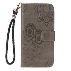 Назначение iPhone 7 iPhone 7 Plus Чехлы панели Кошелек Бумажник для карт со стендом Флип Рельефный Чехол Кейс для Сплошной цвет Сова